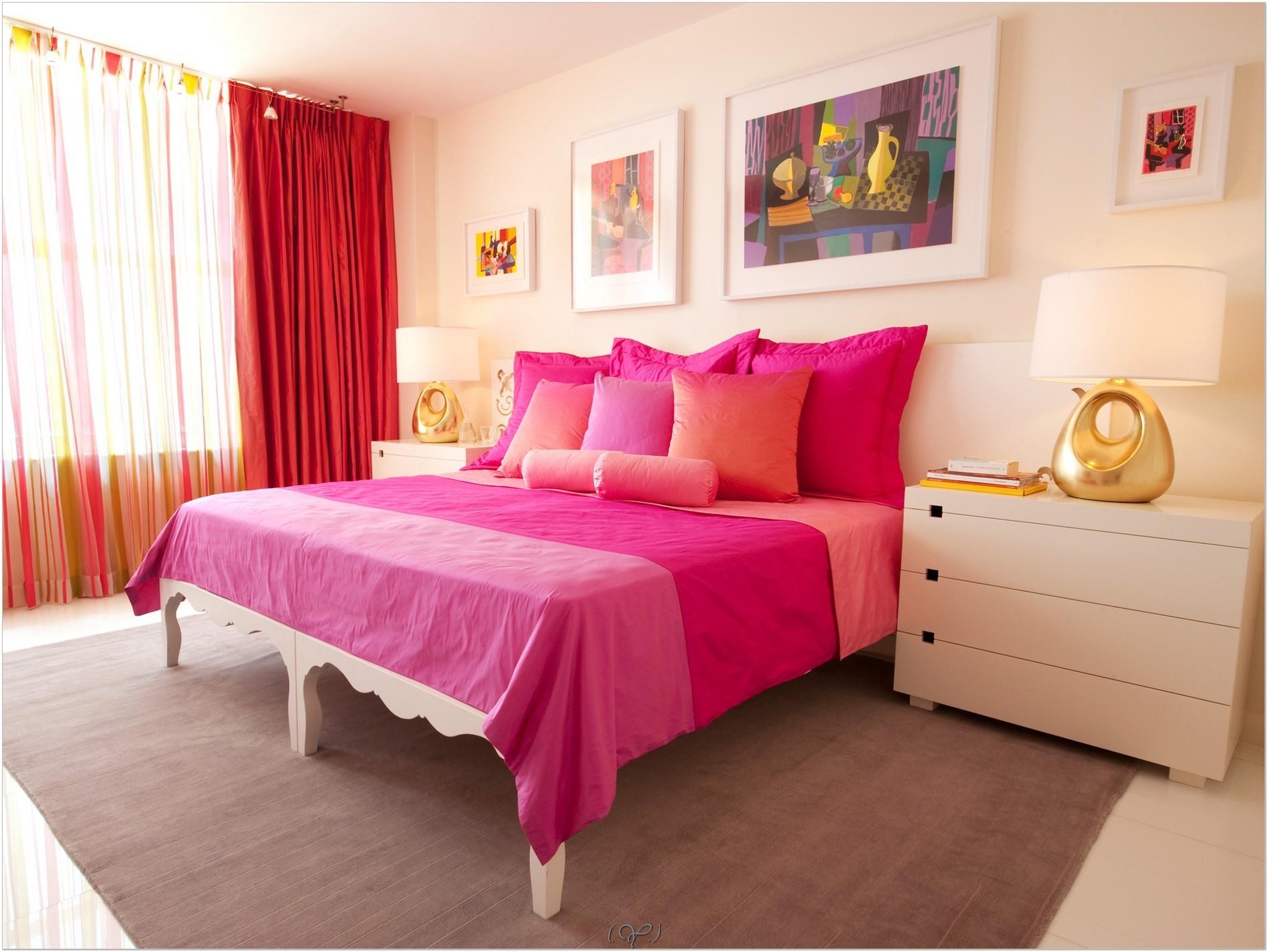 цветовые гаммы для спальни розовые
