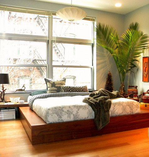 пальмы в спальне