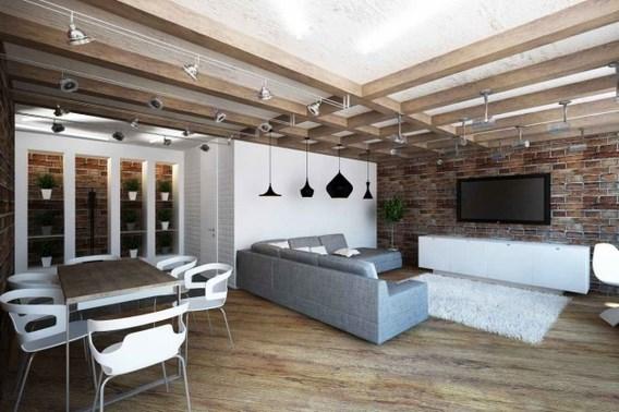 дизайн помещения в стиле лофт